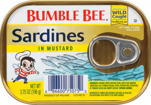 Bumble Bee Sardines in Mustard Perspective: front