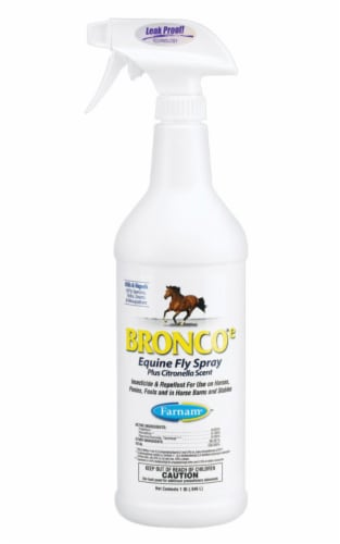 Farnam  Bronco Equine Fly Spray  Insect Killer  32 oz. - Case Of: 1; Perspective: front