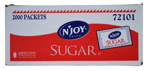 Natural Joy Sugar,  .1 Ounce -- 2000 Packet Perspective: front