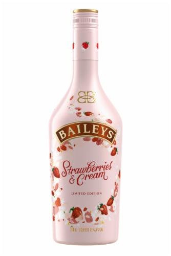 Baileys Strawberries & Cream Liqueur Perspective: front