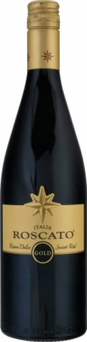 Roscato Italy Gold Sweet Red Wine Perspective: front