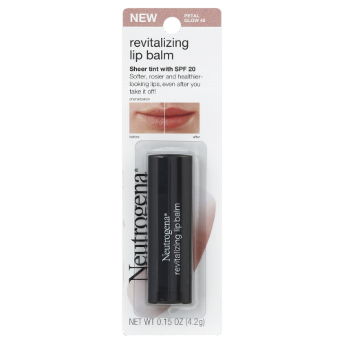 Neutrogena 40 Petal Glow Sheer Tint Revitalizing Lip Balm SPF 20 Perspective: front