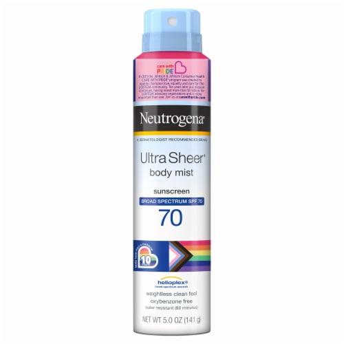 Neutrogena Ultra Sheer Body Mist SPF 70 Sunscreen Perspective: front