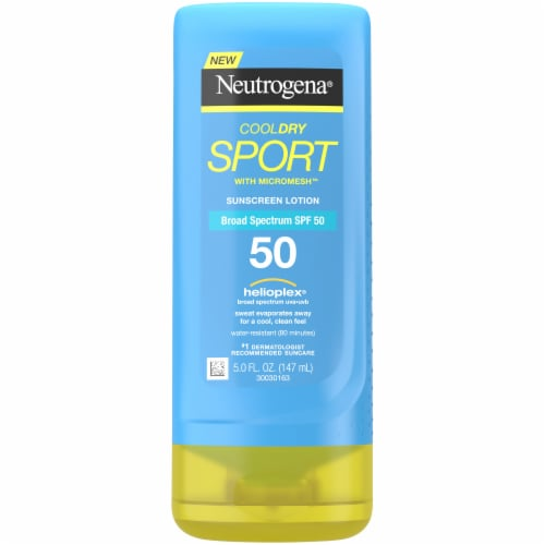 Neutorgena Cool Dry Sport with Mircomesh Sunscreen Lotion SPF 50 Perspective: front