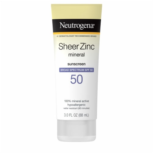 Neutrogena Sheer Zinc Mineral Dry-Touch Sunscreen SPF 50 Perspective: front