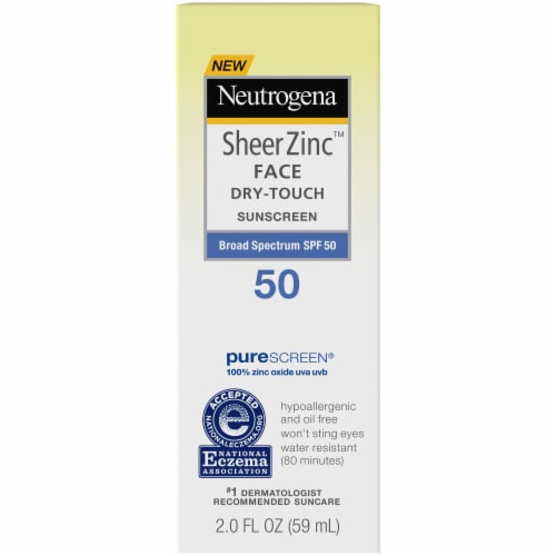Neutrogena Sheer Zinc Face Dry-Touch Sunscreen SPF 50 Perspective: front
