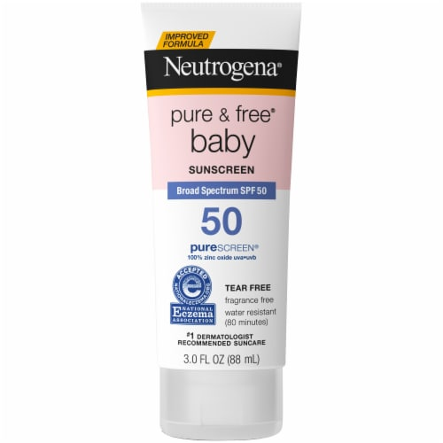 Neutrogena Pure & Free Baby Sunscreen Lotion SPF 50 Perspective: front