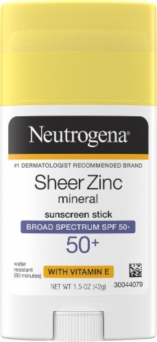Neutrogena Sheer Zinc Sunscreen Stick SPF 50 Perspective: front