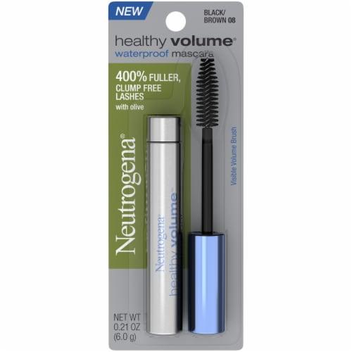 Neutrogena Healthy Volume Black Brown Waterproof Mascara Perspective: front