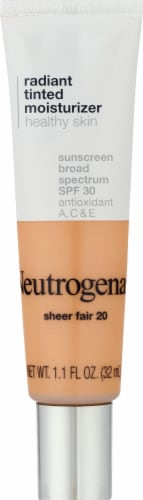 Neutrogena 20 Sheer Fair Radiant Tinted Moisturizer Perspective: front