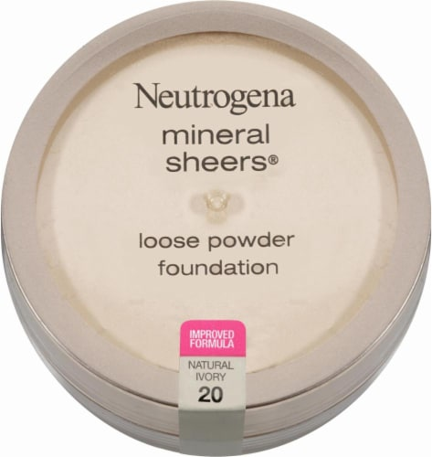 Neutrogena Mineral Sheers 20 Natural Ivory Loose Powder Foundation Perspective: front