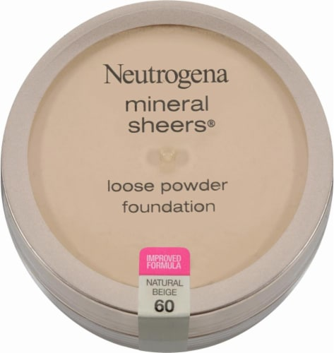 Neutrogena Mineral Sheers 60 Natural Beige Loose Powder Foundation Perspective: front