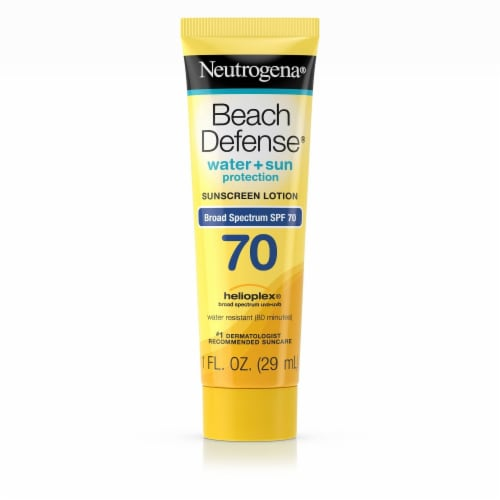Neutrogena® Beach Defense® Water & Sun Protection Sunscreen Lotion SPF 70 Perspective: front