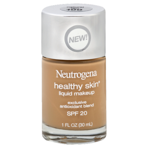 Neutrogena Healthy Skin 100 Natural Tan Liquid Foundation Perspective: front