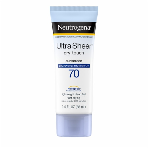 Neutrogena Ultra Sheer Dry-Touch Sunscreen Lotion SPF 70 Perspective: front