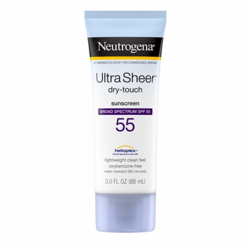 Neutrogena Ultra Sheer Dry-Touch Sunscreen Lotion SPF 55 Perspective: front