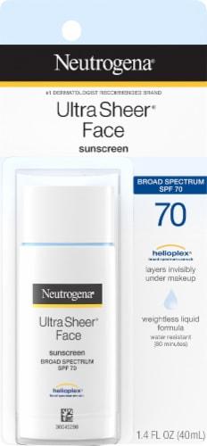 Neutrogena Ultra Sheer Liquid Sun Screen SPF 70 Perspective: front