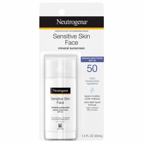 Neutrogena Face Sunscreen for Sensitive Skin SPF 50 Perspective: front