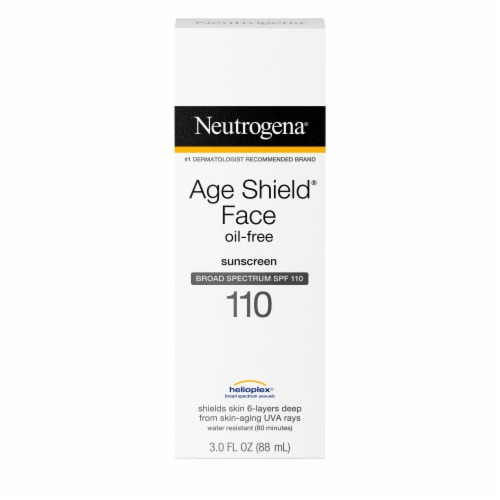 Neutrogena Age Shield Oil-Free Lotion Face Sunscreen SPF 110 Perspective: front