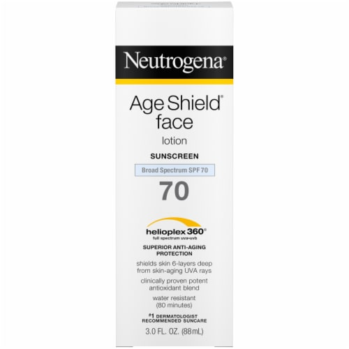 Neutrogena Age Shield Face Lotion Sunscreen SPF 70 Perspective: front