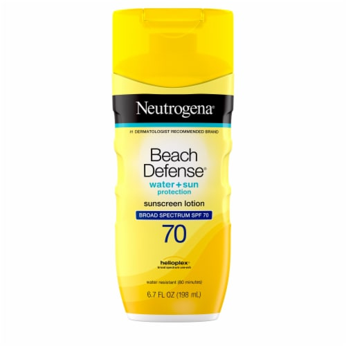 Neutrogena Beach Defense Water + Sun Protection Sunscreen Lotion SPF 70 Perspective: front