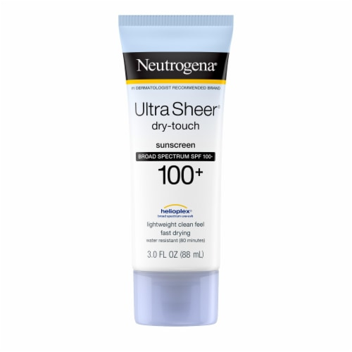 Neutrogena Ultra Sheer Dry-Touch Sunscreen Lotion SPF 100+ Perspective: front