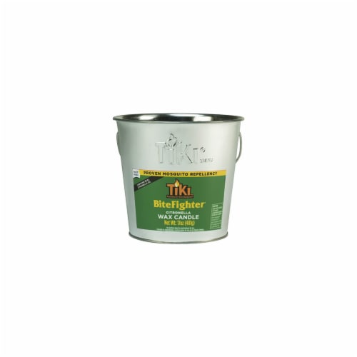 TIKI® Bitefighter Citronella Wax Bucket Candle Perspective: front