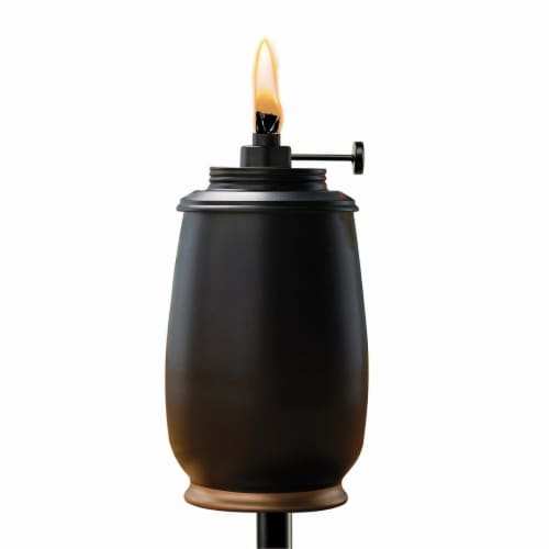 Tiki Black Ceramic 65 in. Kokomo Tabletop Torch 1 pc. - Case Of: 1; Perspective: front