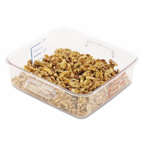 Rubbermaid Square Storage Container,2 qt,Clear  FG630200CLR Perspective: front