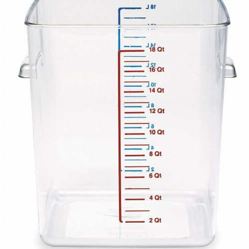 Rubbermaid Square Storage Container,18 qt,Clear  FG631800CLR Perspective: front