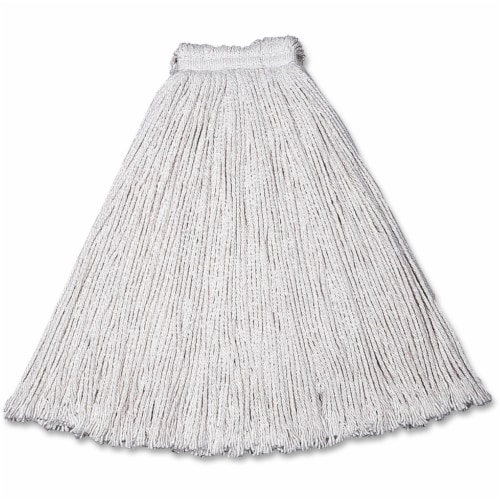 Rubbermaid String Wet Mop,16 oz., Cotton HAWA FGV11600WH00 Perspective: front