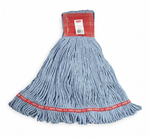 Rubbermaid Commercial Mop,Web Ft,Antim,Shrkl,Be A253BLU Perspective: front
