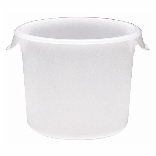 Rubbermaid Round Storage Container,8 qt,Lid 1GAF4  FG572400WHT Perspective: front