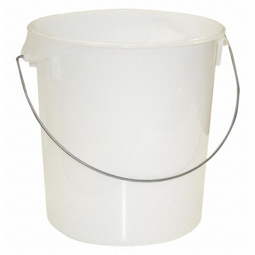 Rubbermaid Round Storage Container,22 qt,Lid 1GAF3  FG572800WHT Perspective: front
