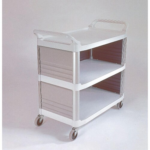 Rubbermaid Enclosed  Cart,HDPE,Off-White,300 lb.  FG409300OWHT Perspective: front