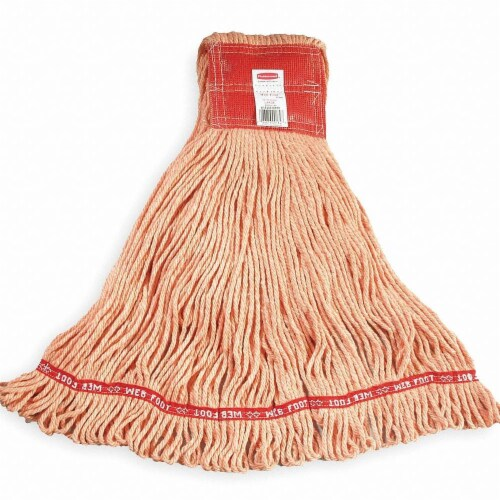 Rubbermaid String Wet Mop,28 oz.Synthetic  FGA25306OR00 Perspective: front