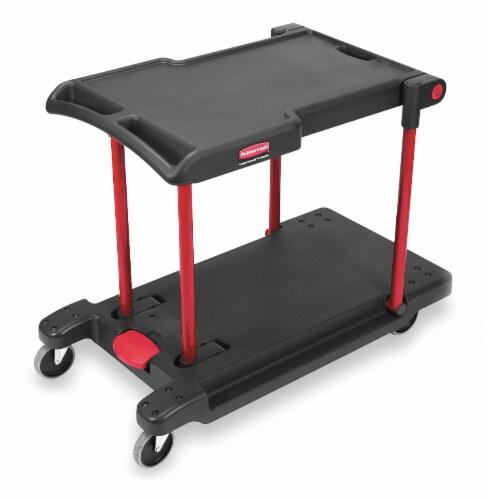 Rubbermaid Utility Cart,400 lb. Load Cap. HAWA FG430000BLA Perspective: front