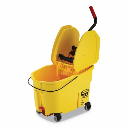 Rubbermaid Commercial Bucket,Dp Wrn,44q Wb2,Yl FG757688YEL Perspective: front