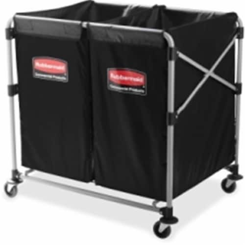 Rubbermaid Commercial Collapsible X-Cart Utility Cart 1881781 Perspective: front