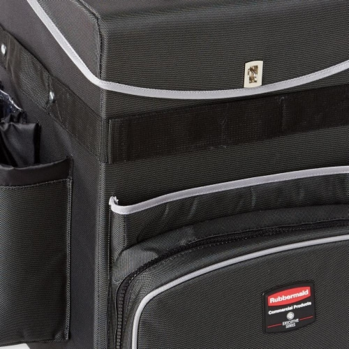 Rubbermaid Commercial Executive Janitorial Cart 1902466 Perspective: front