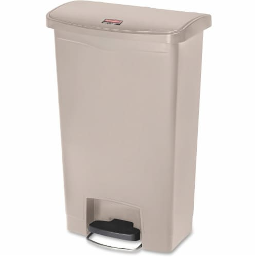 Rubbermaid Commercial Slim Jim Waste Container 1883458 Perspective: front