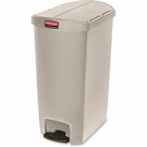 Rubbermaid Commercial Slim Jim Waste Container 1883551 Perspective: front