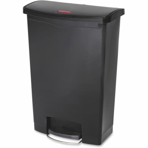 Rubbermaid Commercial Slim Jim Waste Container 1883615 Perspective: front