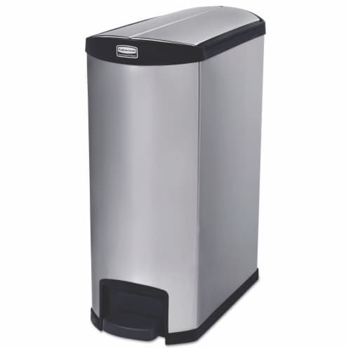 Rubbermaid Commercial Slim Jim Waste Container 1902000 Perspective: front