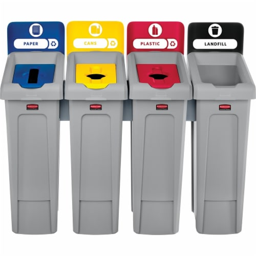 Rubbermaid Commercial Slim Jim Recycling Container 2007919 Perspective: front