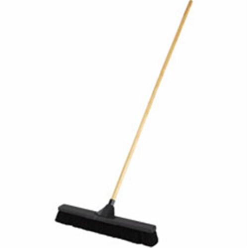 Rubbermaid Push Broom,3  L Trim,Black Bristle  2040000 Perspective: front