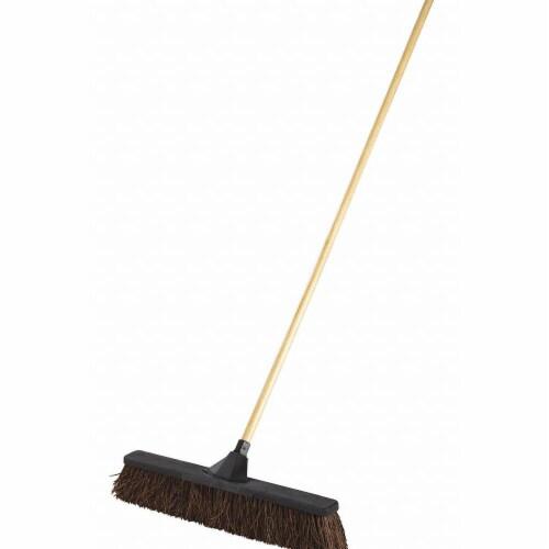 Rubbermaid Push Broom,3  L Trim,Brown Bristle  2040041 Perspective: front