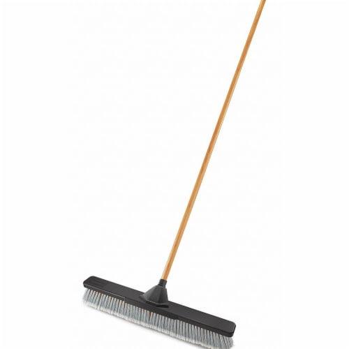 Rubbermaid Push Broom,3  L Trim,Gray Bristle  2040045 Perspective: front