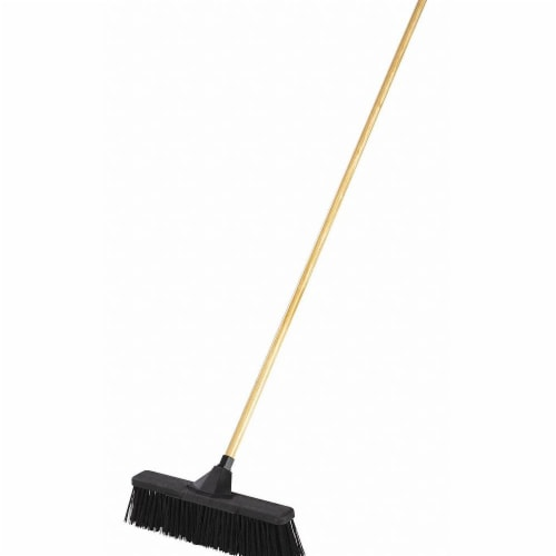 Rubbermaid Push Broom,4  L Trim,Black Bristle  2040054 Perspective: front
