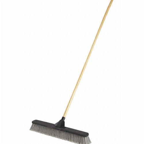 Rubbermaid Push Broom,3  L Trim,Gray Bristle  2039998 Perspective: front